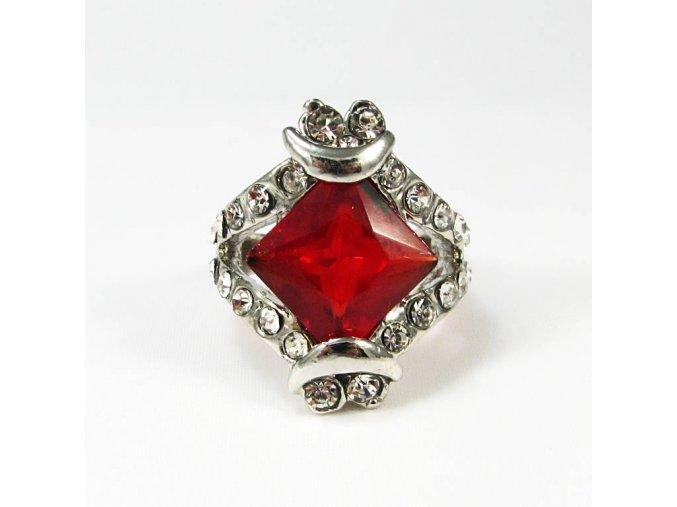 BPK0007B prsten s cervenym kamenem