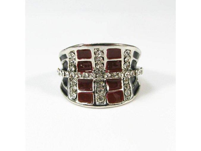 BPK0040 cervenocerny prsten s kaminky