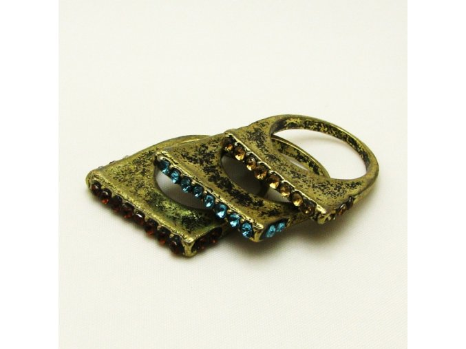 BPK0080 mosazne prsteny s kaminky