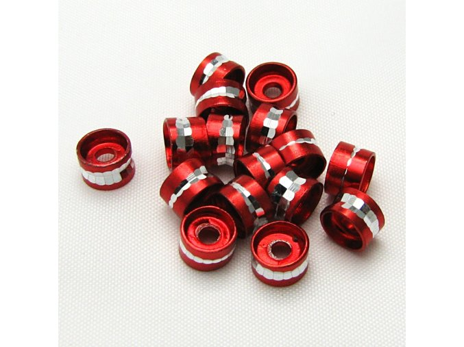 RHL0004D hlinikove rondelky cervene