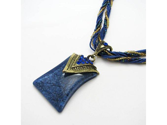 BHO0010 nahrdelnik s modrym kamenem