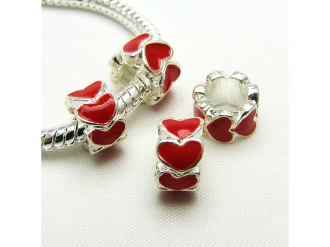 PKS0002 smaltovany komponent cerveny srdce