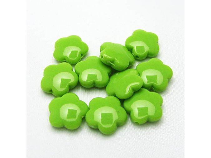 RPL0029A plastove koralky kyticky zelene