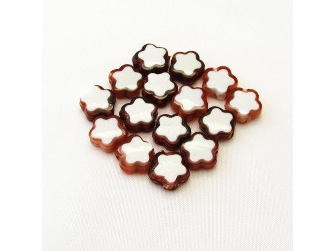 RPL0054A koralky plast kyticky hnede