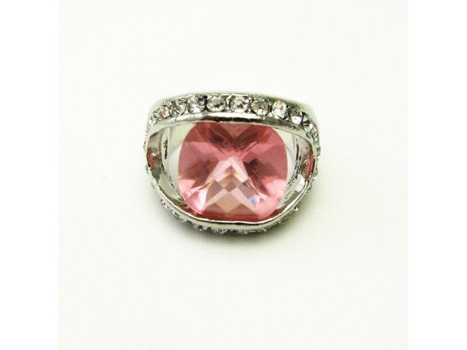 BPK0138 prsten s ruzovym kamenem