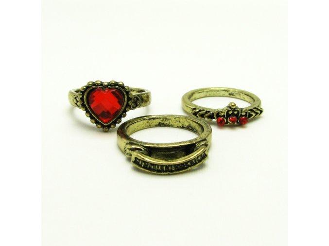 BPK0143 kovove prsteny s kaminky