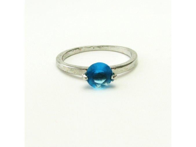 BPK0146 prsten s modrym kaminkem