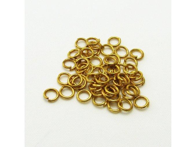 KSK0003C spojovaci krouzek zlaty 4mm