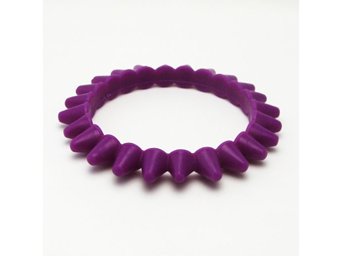 BRO0025A naramek gumovy ostny fialovy