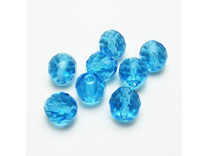 RSK0006B sklenene brousene koralky modre