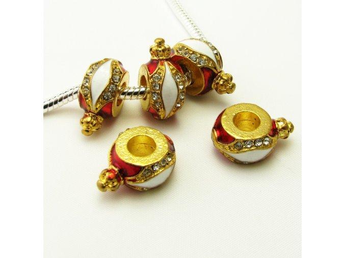 PRV0033 kovovy koralek zlaty