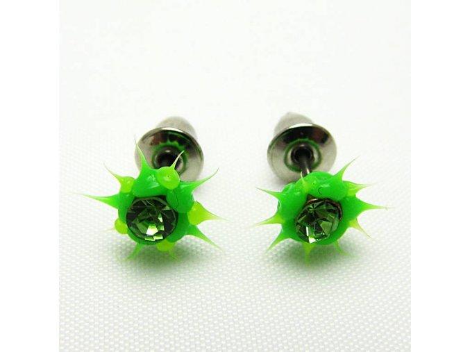 BNC0029A nausnice pecky zelene