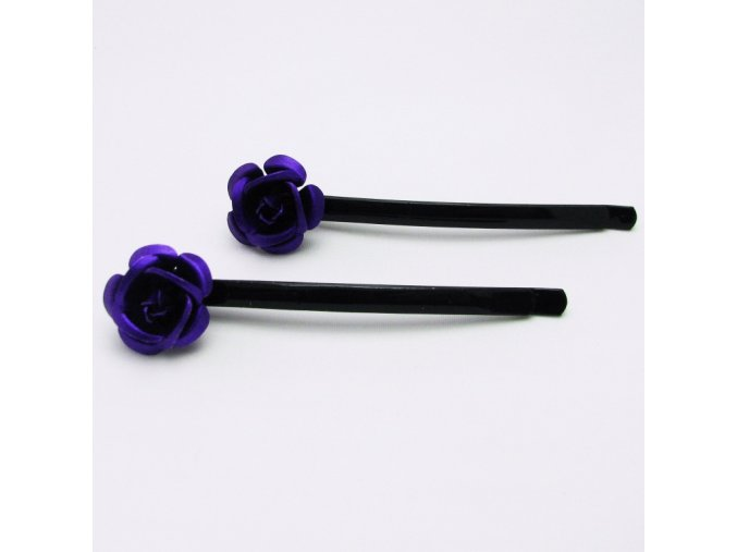 BVS0022 sponka do vlasu ruzicka fialova