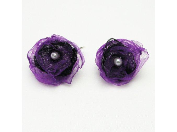 BNO0008 nausnice ruzicky fialovocerne