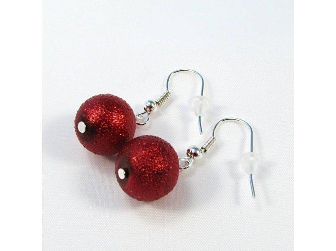BNS0003A nausnice cervene perly