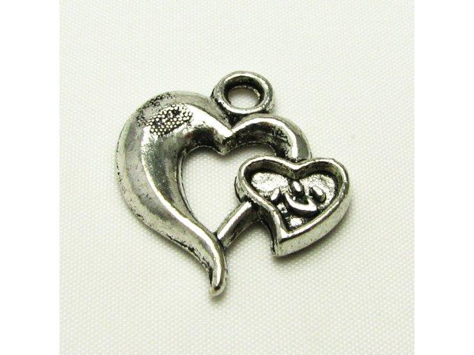 KPC0160 privesek srdce