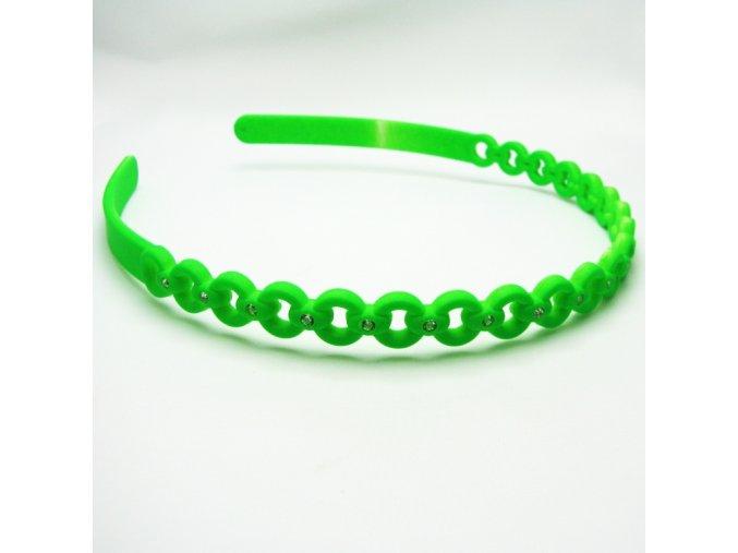 BVC0020A celenka do vlasu zelena
