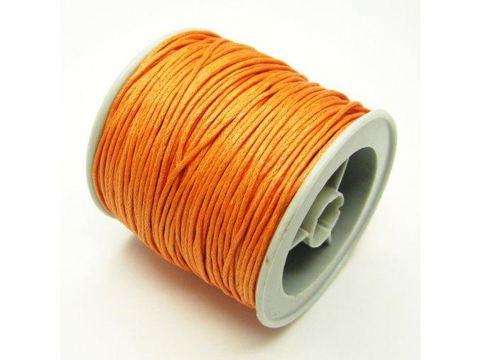 NBS0002J bavlnena voskovana snurka oranzova