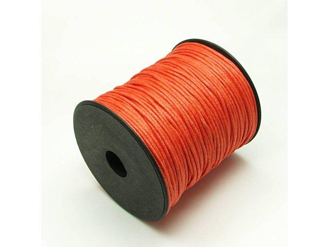 NBS0003G bavlnena voskovana snurka 15mm oranzova