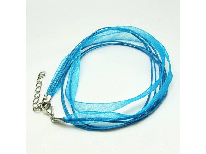 NOS0001C organza stuzka modra