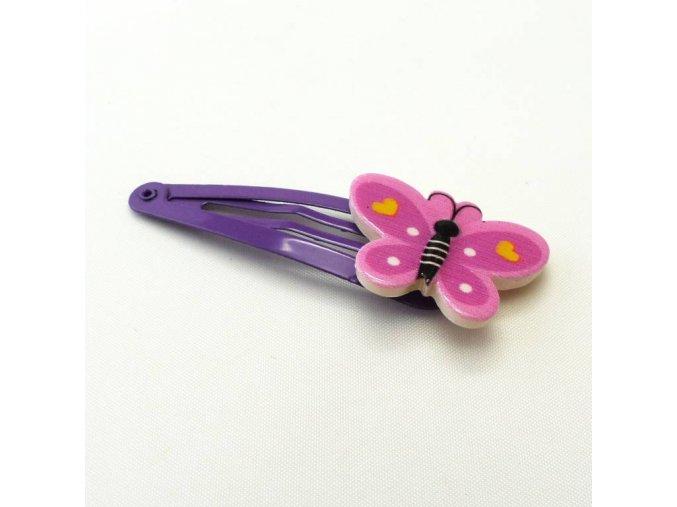 BVS0076A sponka do vlasu motylek fialovy