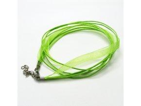 NOS0003A organza stuha zelena