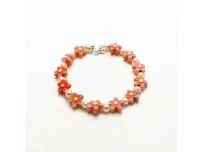 BRR0073 naramek kyticky oranzovy