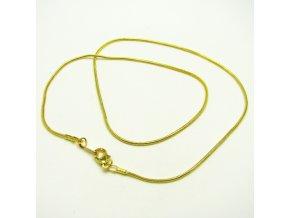 NRE0007 retizek s karabinkou zlaty