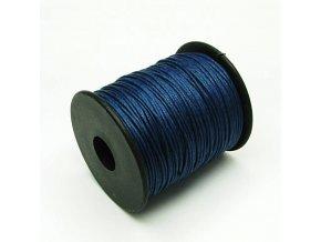 NBS0002A bavlnena voskovana snurka 1mm modra