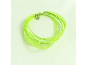 NOS0003H organza stuha zelena neon