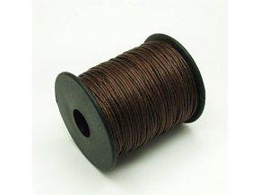 NBS0002B bavlnena voskovana snurka 1mm hneda
