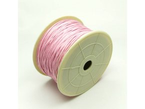 NBS0002E bavlnena voskovana snurka 1mm ruzova