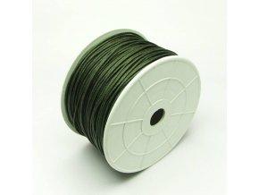 NBS0002F bavlnena voskovana snurka 1mm khaki