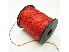 NBS0002K bavlnena voskovana snurka cervena