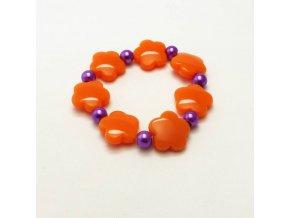 BRR0095 naramek kyticky oranzove
