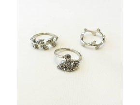 BPK0194 kovove prsteny s kaminky