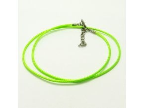 NSZ0016 voskovana snurka zelenozluta