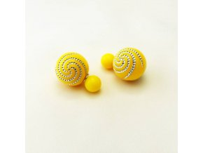BNC0365 nausnice pecky perly spirala