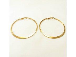BNU0013A kovove nausnice kruhy zlate