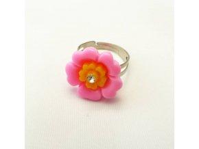 BPD0192 detsky prsten kyticka ruzova