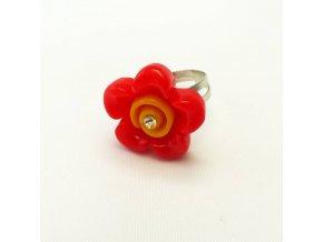 BPD0193 detsky prsten kyticka cervena