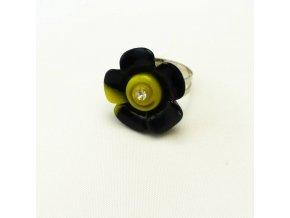 BPD0196 detsky prsten kyticka cerna