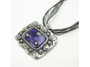 BHS0096 nahrdelnik fialovy privesek