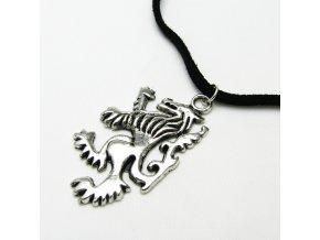BHZ0013A privesek na kuzi lev cerny