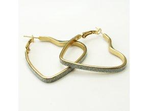BNV0067 nausnice srdce zlate