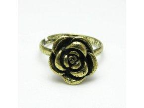 BPV0009 prsten mosazna ruzicka