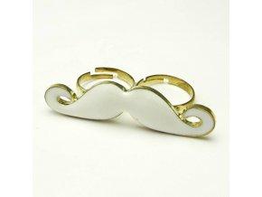 BPV0017B zlaty dvojity prstynek knir bily