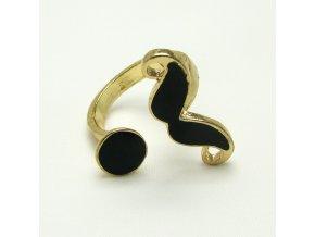 BPV0022 zlaty prstynek knir cerny
