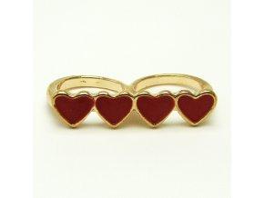 Srdíčka, dvojitý prsten, 17mm