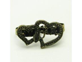 BPV0029 mosazny prsten srdce